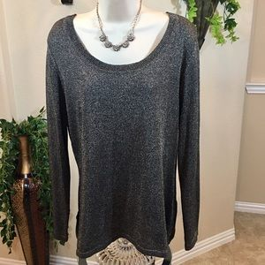 Black and Gold Long Sleeve Sweater